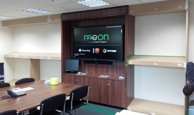 Meon-signs-shelf-installation&prep-before-painting