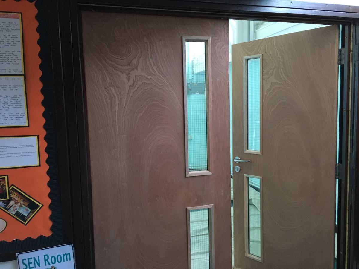 School Classroom Doors To Eastwitteringscommunityprimaryschoolclassroomdoorsbefore