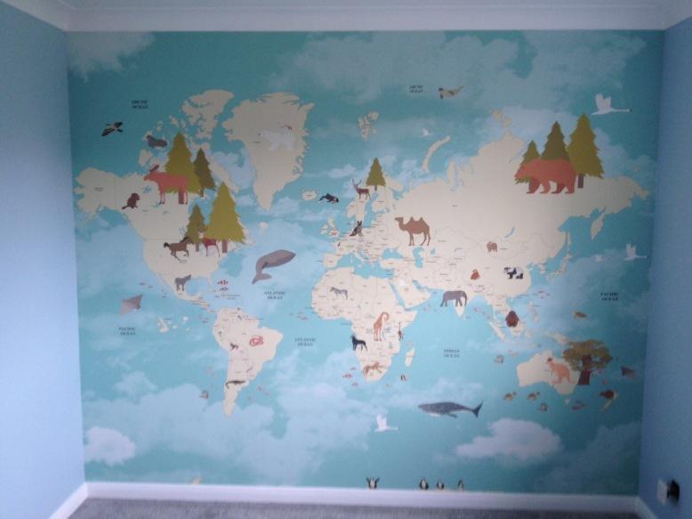 Map wallpaper Trelawney way